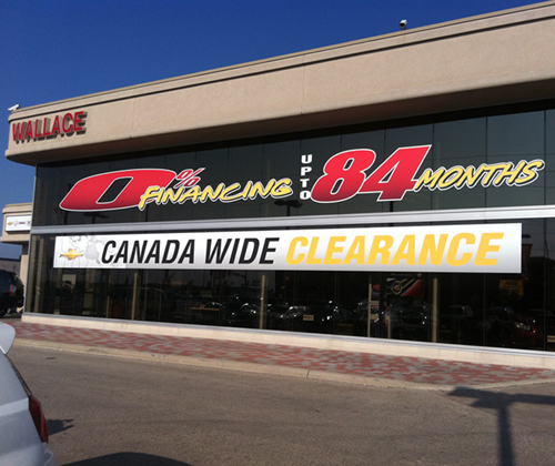 Wallace Chevrolet Canada Wide Clearance