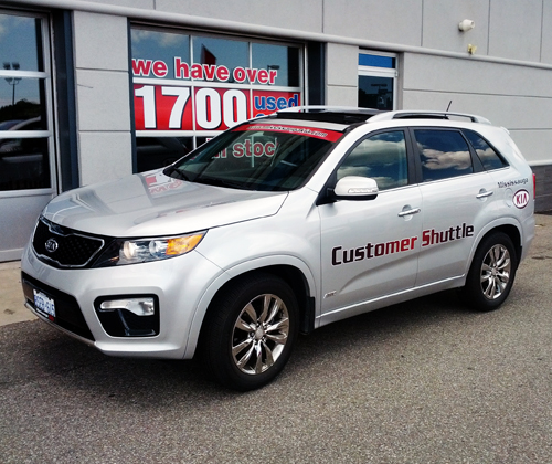 Woodchester Kia Customer Shuttle